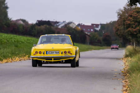 Augsburg, Germany - October 1, 2017: Matra M530 LX oldtimer car at the Fuggerstadt Classic 2017 Oldtimer Rallye on October 1, 2017 in Augsburg, Germany.