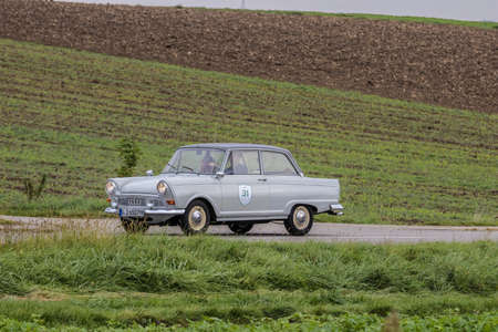 Augsburg, Germany - October 1, 2017: Auto Union DKW F11 oldtimer car at the Fuggerstadt Classic 2017 Oldtimer Rallye on October 1, 2017 in Augsburg, Germany.