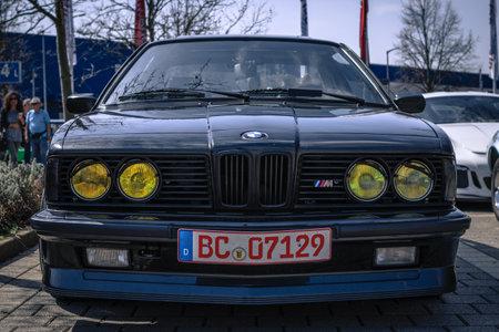 Ludwigsburg, Germany - April 8, 2018: BMW M635 CSi M6 oldtimer car at the 2018 Retro Season Opener meeting and show.
