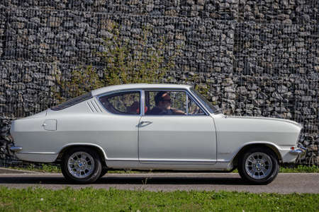 Ludwigsburg, Germany - April 8, 2018: Opel Kadett oldtimer car at the 2018 Retro Season Opener meeting and show. Editorial