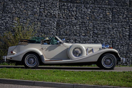 Ludwigsburg, Germany - April 8, 2018: Excalibur oldtimer car at the 2018 Retro Season Opener meeting and show.