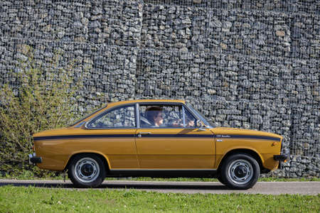 Ludwigsburg, Germany - April 8, 2018: DAF 66 1300 Marathon oldtimer car at the 2018 Retro Season Opener meeting and show. Editorial