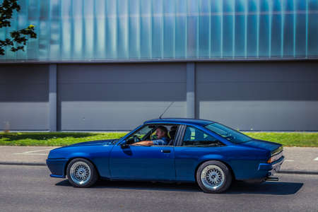 Heidenheim, Germany - July 8, 2018: Opel Manta at the 2. Oldtimer day in Heidenheim an der Brenz, Germany.