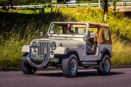 Heidenheim, Germany - July 8, 2018: Jeep Wrangler at the 2. Oldtimer day in Heidenheim an der Brenz, Germany. Redakční