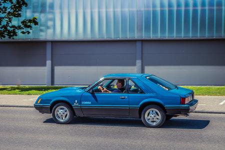 Heidenheim, Germany - July 8, 2018: Ford Mustang SVT Cobra at the 2. Oldtimer day in Heidenheim an der Brenz, Germany.