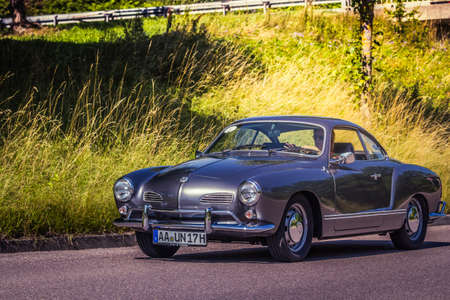 Heidenheim, Germany - July 8, 2018: Volkswagen Karmann Ghia Typ 14 at the 2. Oldtimer day in Heidenheim an der Brenz, Germany.