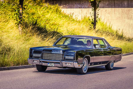 Heidenheim, Germany - July 8, 2018: 1973 Lincoln Continental Town Car at the 2. Oldtimer day in Heidenheim an der Brenz, Germany.
