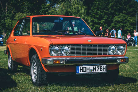 Heidenheim, Germany - July 8, 2018: Fiat at the 2. Oldtimer day in Heidenheim an der Brenz, Germany.