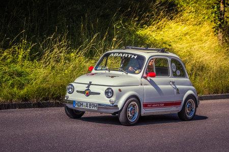 Heidenheim, Germany - July 8, 2018: Fiat 500 Abarth 595 at the 2. Oldtimer day in Heidenheim an der Brenz, Germany. Editorial