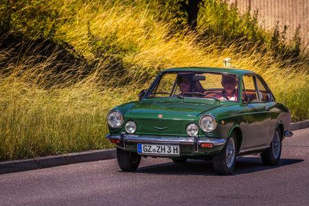 Heidenheim, Germany - July 8, 2018: Fiat 850 Coupe at the 2. Oldtimer day in Heidenheim an der Brenz, Germany.