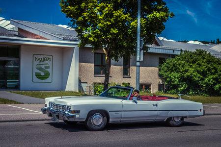 Heidenheim, Germany - July 8, 2018: Cadillac Eldorado at the 2. Oldtimer day in Heidenheim an der Brenz, Germany.