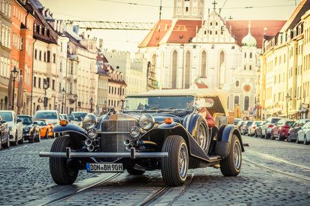 Augsburg, Germany - September 30, 2018: 1979 Excalibur Phaeton oldtimer car at the Fuggerstadt Classic 2018 Oldtimer Rallye. Editorial