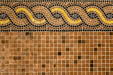 Background with mosaic tiles with ornament