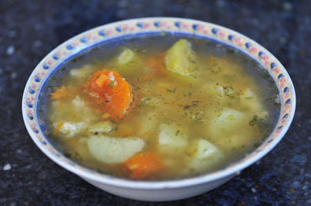 traditional remedy: Traditional vegetable soup for home remedy