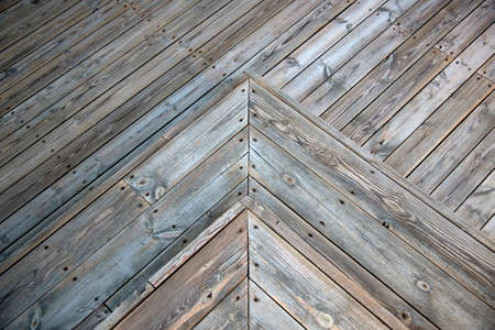 cubierta de madera con textura trainagle Foto de archivo
