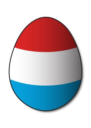 luxembourg: Luxembourg Flag egg Illustration