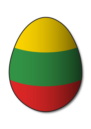 lithuania flag: Lithuania Flag Egg Illustration