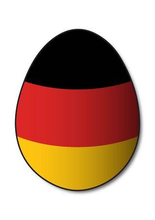 german flag: German Flag Egg