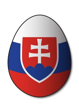 slovakia flag: Slovakia Flag Egg