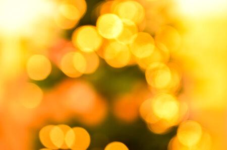composit: Bokeh of yellow christmas lights