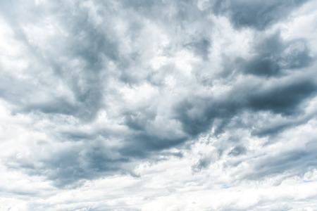 bad times: Dramatic Thunderstorm clouds for composition Stock Photo