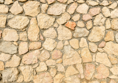 road surface: Natural yellow pavement stone for floor, wall or path. Traditional fence, court, backyard or road paving.