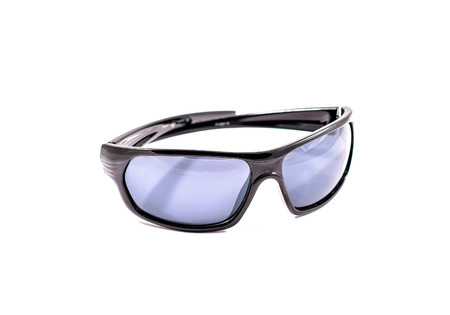 sunglassess: Protective gear sport black sunglasses isolated in white