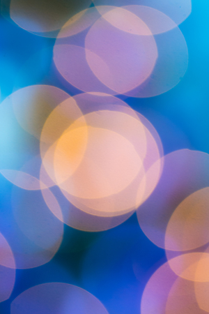 composit: Abstract circular bokeh circles defocused bokeh lights facula background for Christmas background colors or photo composit. Stock Photo