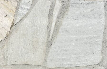 road paving: Natural white gray pavement stone for floor, wall or path. Traditional fence, court, backyard or road paving.