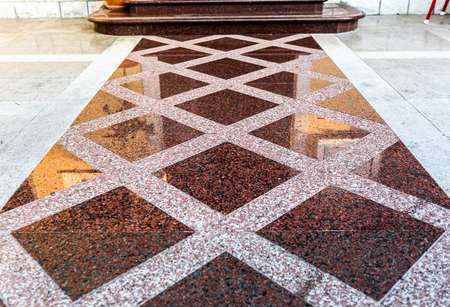 Marble or granite floor slabs for outside pavement flooring. Natural gray pavement stone texture for floor, wall or path. Traditional fence, court, backyard or road paving.
