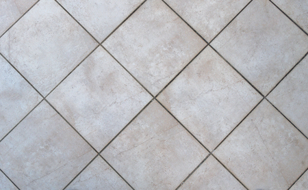bathroom tiles: Interior bathroom tiles tiles. Image of interior flooring with grey beige pavement slabs. Stock Photo