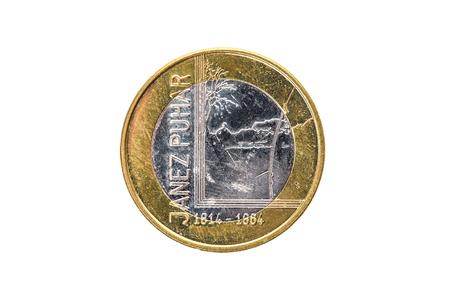 Gebrauchte Gedenkjubiläum Bimetall 3 Euro â Slowenien Mã¼nze 2014