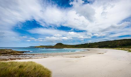 Tropical sandy beach and sea of Atlantic ocean in Spain. Stock Photo