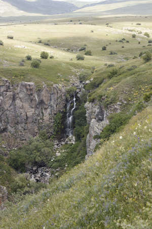 medow: A waterfall in the mountains