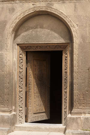 the door of the church of st. Hovhannes, Sisyan, Armenia, church about XII century, the door about XIX century Stock Photo - 7733875
