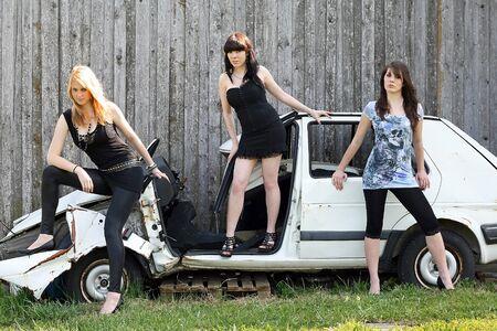 The broken car Stock Photo - 16612991