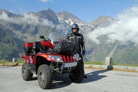 With the Quad in the mountains of Austria Stock Photo - 16690978