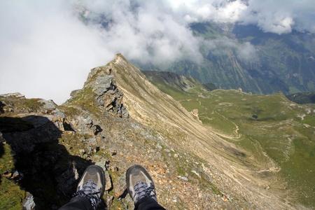 The feet on the precipice photo