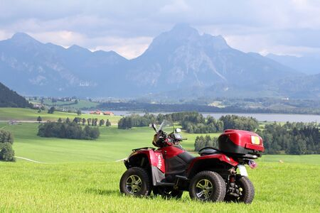 With the Quad road in Bavaria
