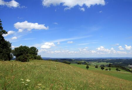 The beautiful Bavarian landscape in summer