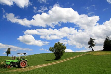An old tractor in Bavaria photo