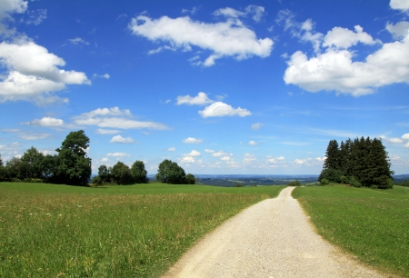 A trail through the beautiful summer Bavaria photo