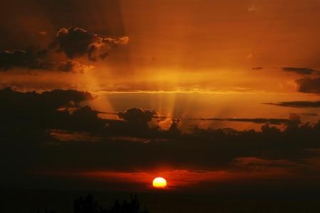 Sunset over the Sea Turkey photo