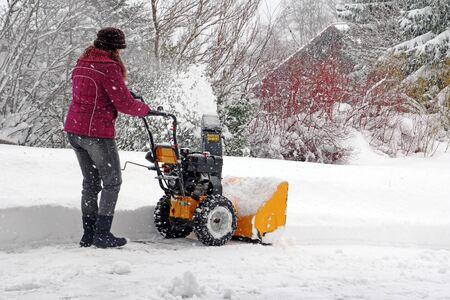 eviction: Snowblower in Bavaria in heavy snow
