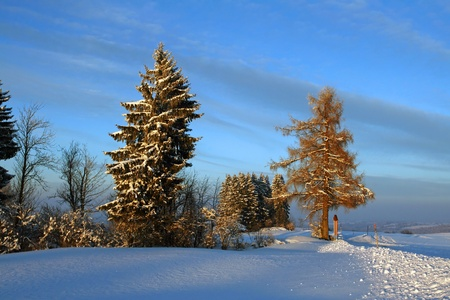 A beautiful winter day comes to an end Stock Photo - 17360058