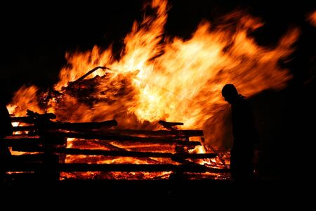 The big fire in spring is an old tradition in Bavaria Stock Photo - 17682213