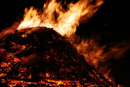 The big fire in spring is an old tradition in Bavaria Stock Photo - 17682219