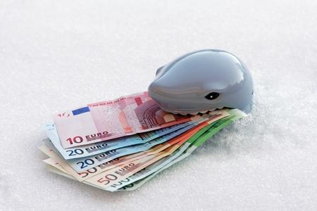 wirtschaftskrise: Symbol - die gef�hrliche eisigen Wirtschaftskrise