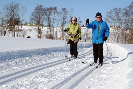 skat: Germany, Bavaria, Oy-Mittelberg, 10th of February, 2012 - winter vacation with going cross-country skiing in Bavaria is liked very much
