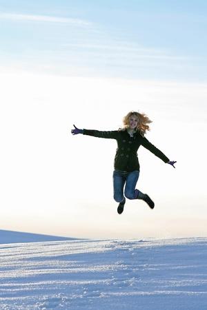 self discovery: Fun in Winter Stock Photo